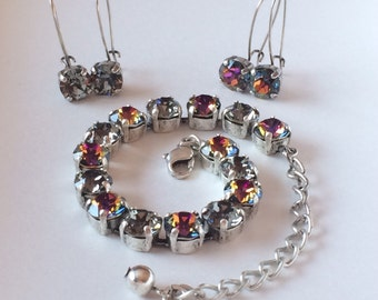 2 sets of Drop wire earrings and bracelet