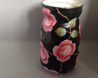 Hand painted small vase