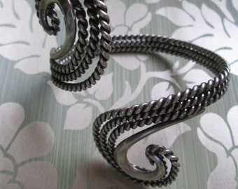 Napier Doris Day Swirl Silver-Plated Cuff