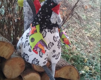 Hen Rooster fabric patchwork