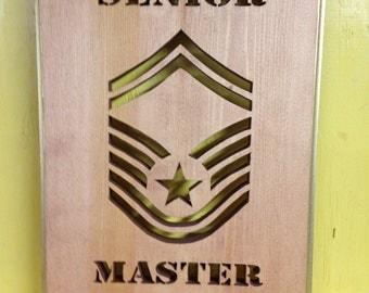USAF Senior Master Sergeant Plaque