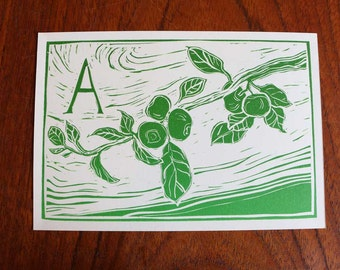 Letter cards, hand printed