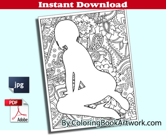 Sexy Pose Page X Rated Adult Coloring Book MATURE Printable