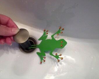 Lime Tree Frog sink decoration