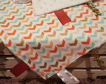 Glittery Arrows Sensory Blanket - Lovey