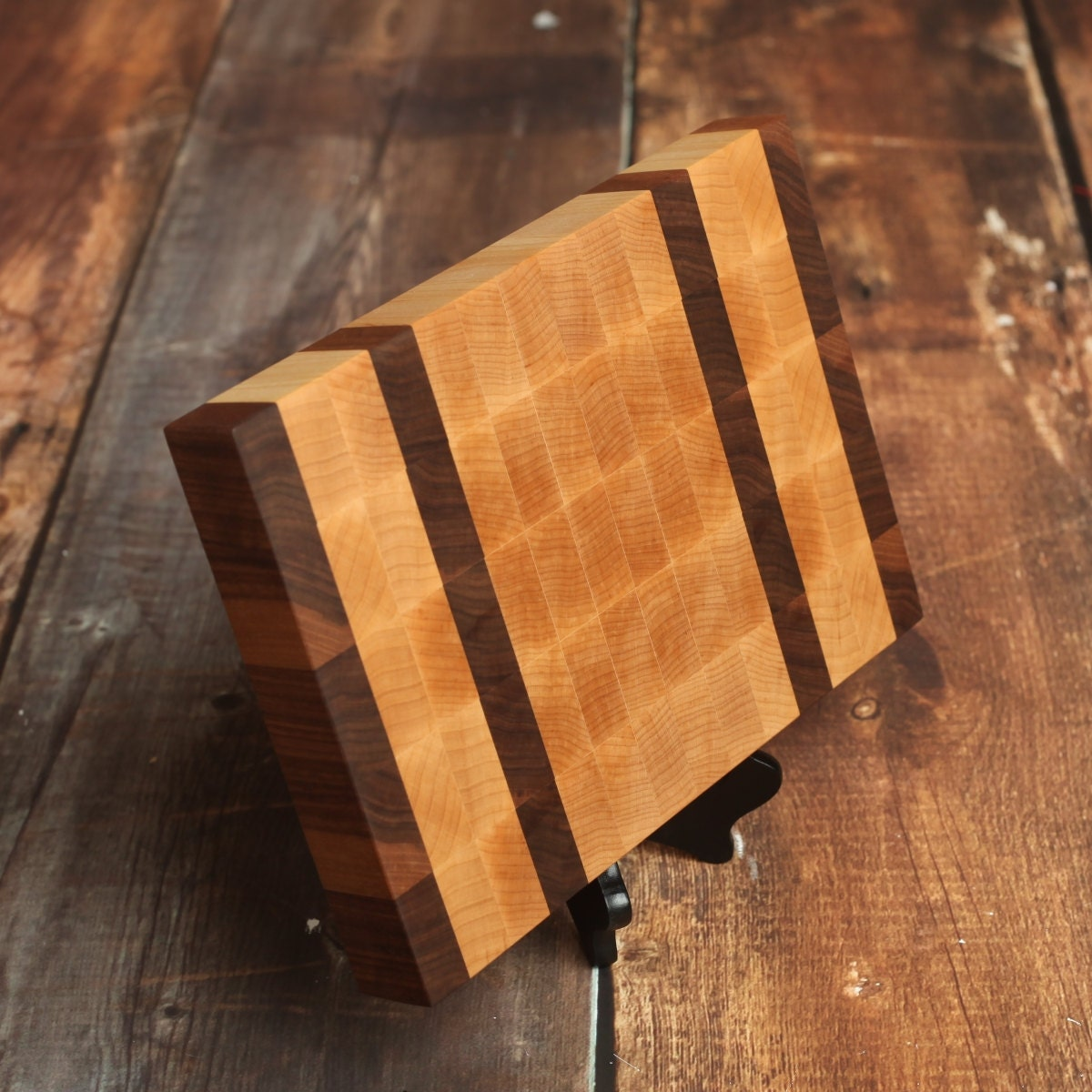 Unique Chopping Block End Grain Cutting Board With Strips Of