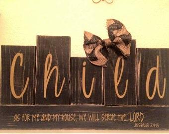 Personalized Family Blocks - Home Decor -  Wedding Gift - Last Name - Family Name - Shower gift - Home Decor