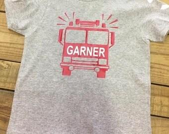 Children's fire truck shirt