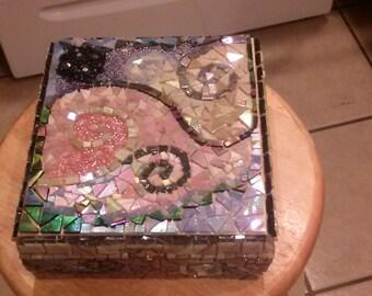 Handmade mosaic keepsake box