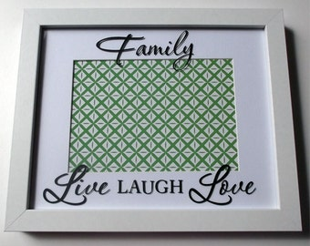 Family - Live Laugh Love - Photo Frame *Can be Personalised!*