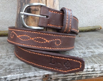 Belt brown/orange