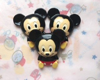 Mickey Mouse resin cabochon Cartoon sweet resin cabochon for decoden Big XXL Size craft supplies | Kawaii deco Sweet deco cabochons set
