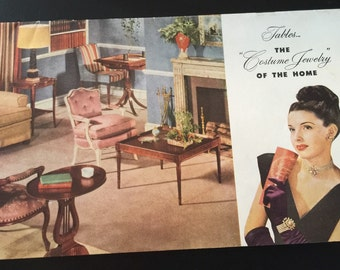 Mersman Table Vintage Advertising Brochure c. 1948 FREE SHIPPING