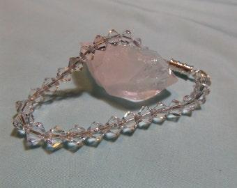 Swarovski Clear Crystal Bead Bracelet