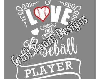 Love My Baseball Player Digital Design