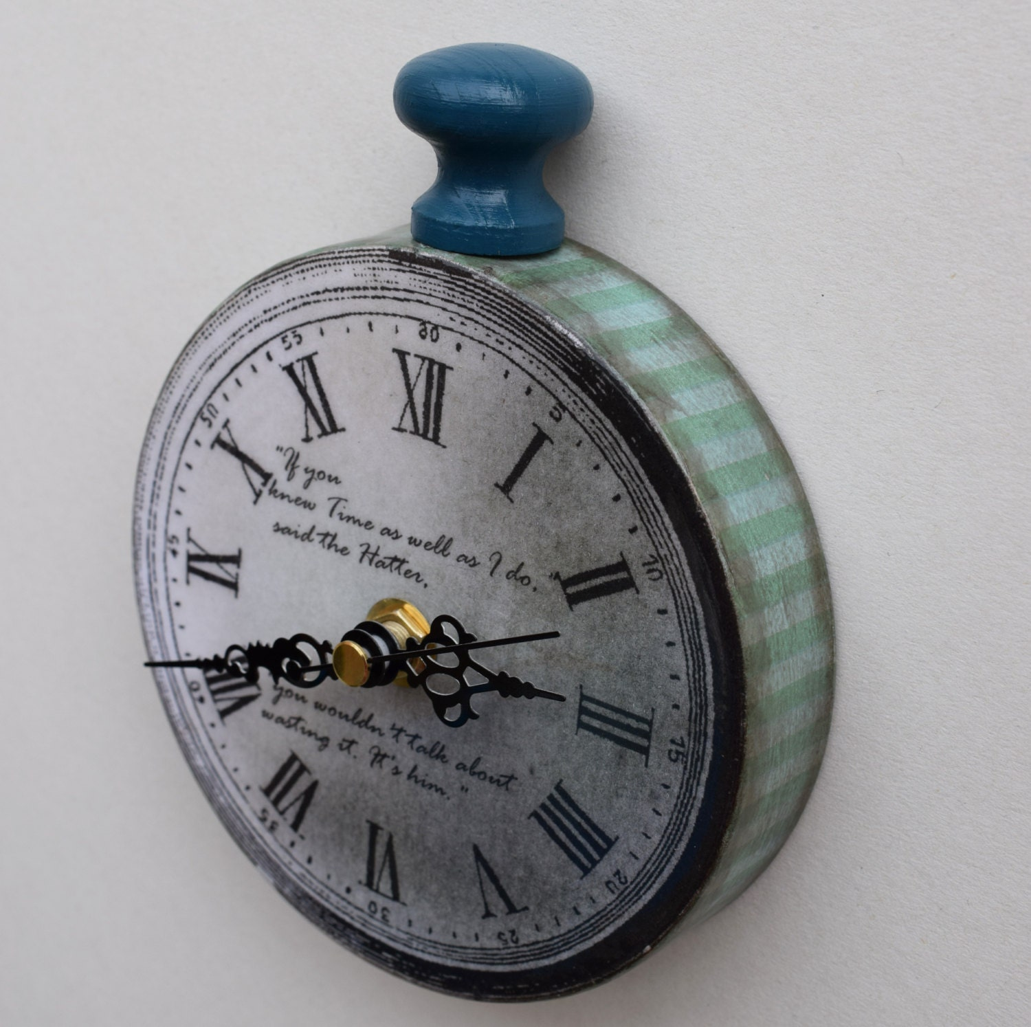 Alice In Wonderland Wall Clock Pocket Watch Style Wall Clock