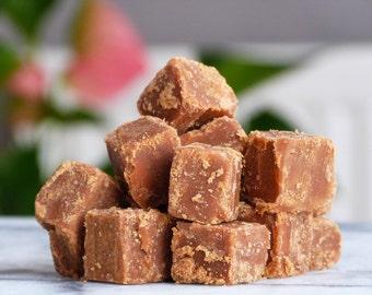 Handmade crumbly fudge