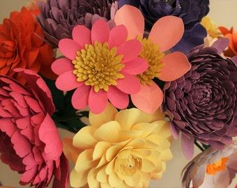 DIY Paper Flower Bouquet Templates - ANGEL