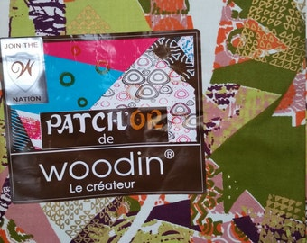 "45"" African Fabric, Patch OR de Woodin, sold by the yard...4Yards"