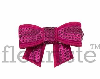HOT PINK 2 inch Sequin Bows, Mini Sequin Bows, Mini Bows, Shiny Bows, Fabric Bows, DIY Bows, Soft Bows, Wholesale Bows, Diy Headband