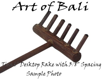 Authentic Art of Bali brand Zen Garden Rakes - Standard 6 Tine desktop rake