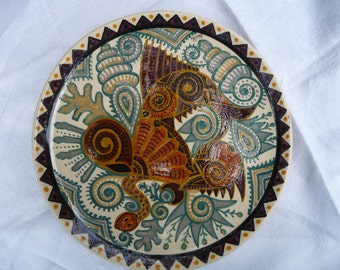 Plate decorative Paul Fouillen 50s