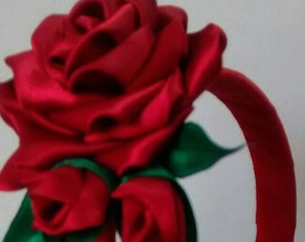 Satin Rose Hairband