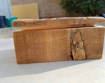 Reclaimed douglas fir photo box with lift-off lid