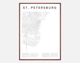 St. Petersburg Map Print