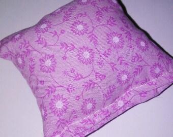 Purple flower print catnip pillow!