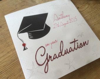 Personalised Graduation Card - Graduation Cap Design PPS31
