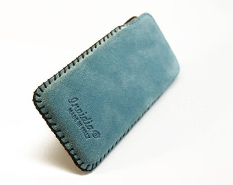 iPhone SE - 5/5S Leather Handmade sleeve pouch case 100% made in italy with the seams done to hand.