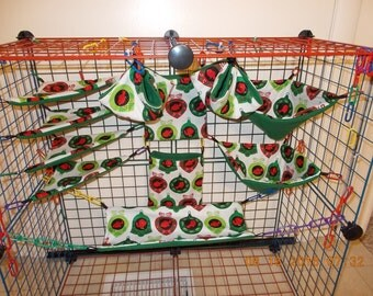 CHRISTMAS ORNAMENTS Sugar Glider 11 pc cage set