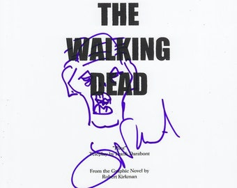 "Greg Nicotero ""The Walking Dead"" Script Signed Sketch"