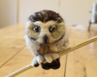 Needle Felted Adorable Owls