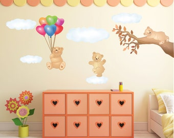 Wall Decals, Wall Stickers, Wall Stickers, Kids Bedroom Decorations, Teddy Bears