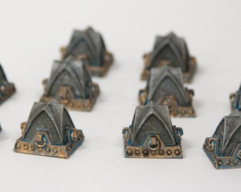 28mm Terrain - Gothic Tank Traps - High Quality Pressure Cast Resin