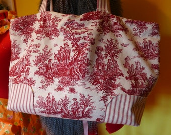 Red Toile Handbag