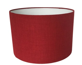 Red Linen Lampshade,  Lightshade, Table Lamp, Various Sizes