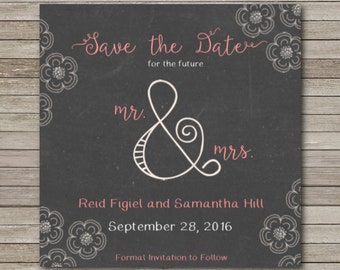Save the Date 5x5 Flat Card