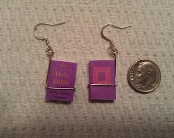 Bible earrings