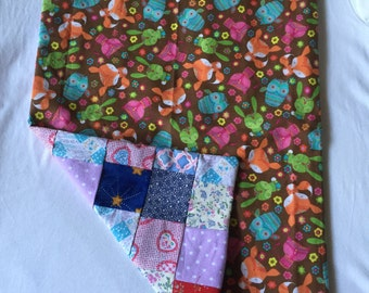 Dolls quilt and matching pillow