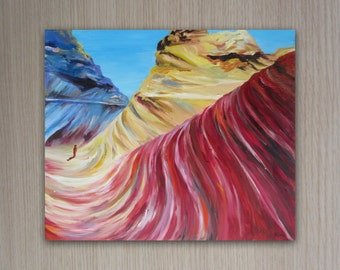 landscape oil painting, original wall art. home or office decor painted by Rina Cohen