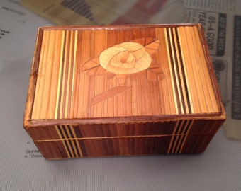 Inlay Rose Box