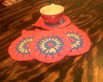 Crochet coasters (set of 4)
