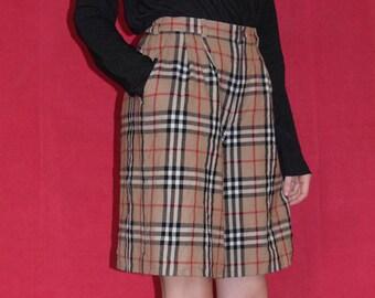 Authentic Burberry Tartan Culottes Shorts Vintage