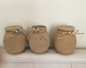 Kitchen jars with dragonfly