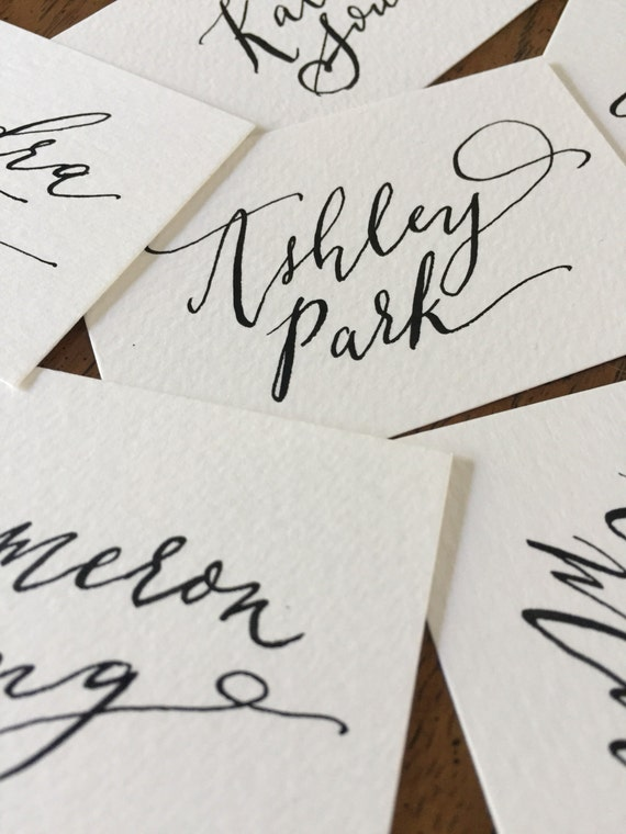 Items Similar To Calligraphy Place Cards On Etsy