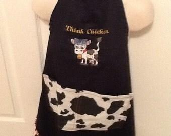 Embroiderd Think Chicken Apron
