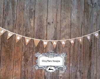 Just Married Wedding Banner Bunting